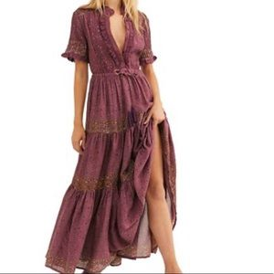 Free People Maxi Floral Dress